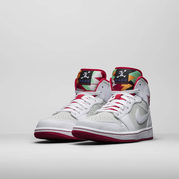 "659baf5b9e7956 The Air Jordan 1 Mid ""Hare"" takes a playful nod from the wascally wabbit."